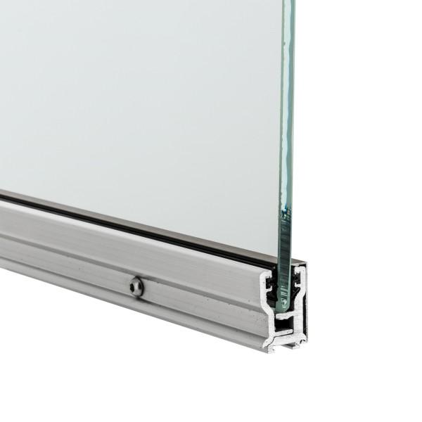 Glastrennwandprofil Aufnahme mit Stahl Türband