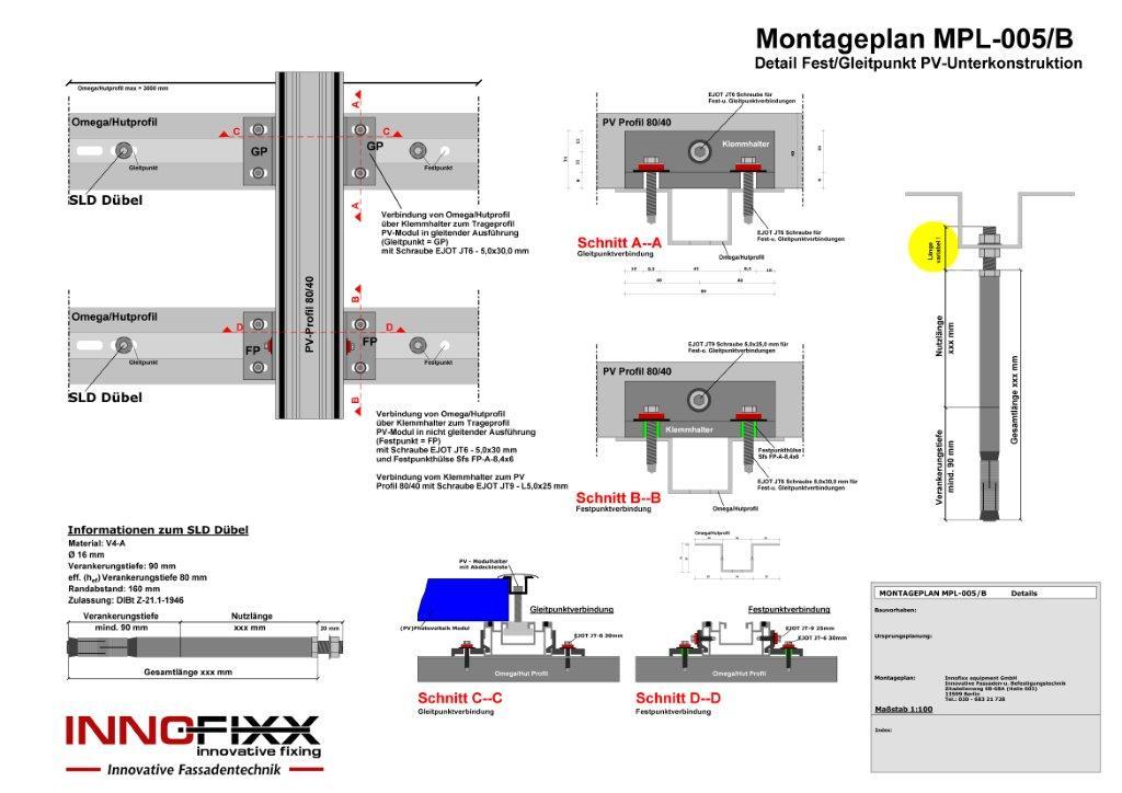 MPL 005 Gleit-Festpunkt 12.04.2019PV Anlage